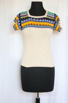 Vintage 1970s JcPenney Short SleeveTribal by VarietyVintagebyALD, $18.50