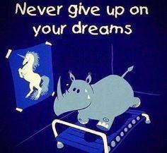 Nunca abandones tus sueños   -   Never give up on your dreams