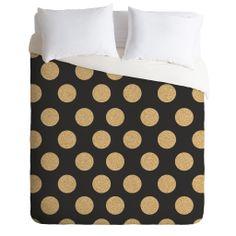 Allyson Johnson Glittering Gold Duvet Cover   DENY Designs Home Accessories