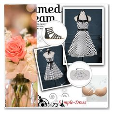 """Simpledress30"" by gold-phoenix ❤ liked on Polyvore featuring vintage"