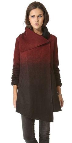 Ombre Melton Coat