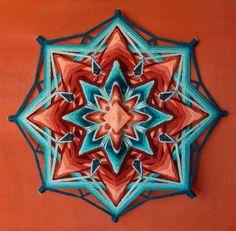 Items similar to Miracle, yarn mandala ~ Ojo de Dios, inches cm), wall hanging on Etsy Mandala Art, Mandalas Drawing, Crochet Mandala, God's Eye Craft, Circular Weaving, Stick Art, Gods Eye, Circle Art, Weaving Art