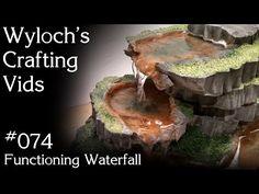 Model Waterfalls and Rapids - Model Scenery   Woodland Scenics - YouTube