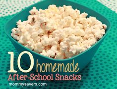 Ten homemade after-school snack ideas that are simple to make and easy on the budget!