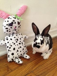 Miss Mel + Miss Heather: DIY: Stuffed Bunny!