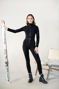 ski style gets an update with our signature one piece women's ski suit. We paired a classic silhouette with modern technical fabric and trim to make a piece that doesn't sacrifice on performance or style. Ski Fashion, Sport Fashion, Ski Jumpsuit, Ski Wear, One Piece Suit, Snow Suit, One Piece For Women, Suits For Women, Autumn Winter Fashion