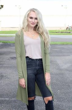 You've Got It All Cardigan - Green – TheLand Boutique Cami, Military Jacket, Latest Fashion, Chelsea, Boutique, Green, How To Wear, Jackets, Style