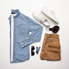 """4,449 Likes, 6 Comments - VoTrends® Outfit Ideas for Men (@votrends) on Instagram: """"Spring time vibes. ☀️ #VoTrends Style by @huntervought —— Tap for brands —— #mensfashion…"""""""