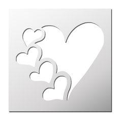 Heart Template Source by ozkosemen Stencil Printing, Stencil Templates, Stencil Patterns, Stencil Art, Stencil Designs, Stencil Wood, Kirigami, Paper Art, Paper Crafts