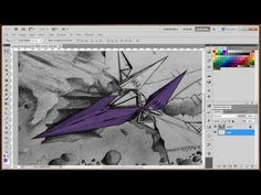 How to easily color sketches in Photoshop