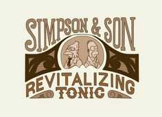 Check out the design Simpson & Son Revitalizing Tonic by Nick Rees Illustration available on on Threadless Los Simsons, Simpsons Tattoo, Black Spiderman, Futurama, Cultura Pop, Stickers, The Simpsons, The Duff, Printed Shirts