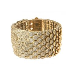 KMO Paris Gold Ombre Crystal Coated Cuff #Bracelet #AccessorieCircuit