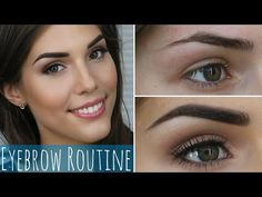 My Eyebrow Routine | How to Groom and Fill in Dark Eyebrows - YouTube