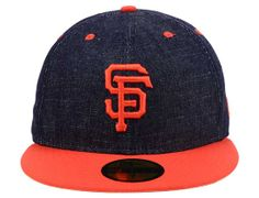 San Francisco Giants Team Color Denim 59Fifty Fitted Cap by MLB x NEW ERA