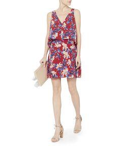 Lisette Floral Printed Mini Dress, PRI-FLORAL, hi-res