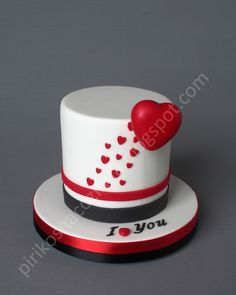 valentine's day cake and box
