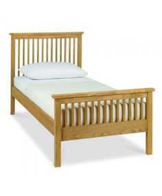 Bentley Designs Atlanta Oak High Footend Wooden Bed Frame Only
