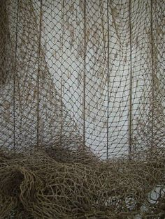 Old Used Fishing Net  5 ft x 5 ft  Vintage Fish by NauticalPlace, $9.99 #FishingNet