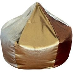 Popular Metallic Bean Bag In Silver Gold And Copper Denim