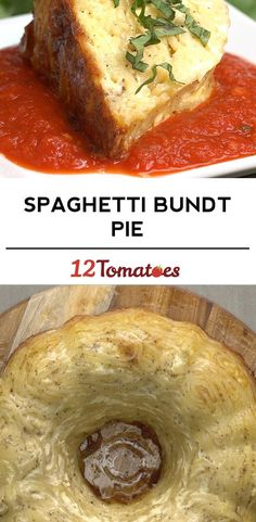 Spaghetti Bundt Pie - Try w/ Spaghetti Squash Dinner Dishes, Pasta Dishes, Food Dishes, Main Dishes, Pasta Food, Pasta Cake, Side Dishes, Spaghetti Pie, Baked Spaghetti