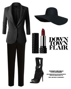"""""""Down Town In Some Big City"""" by sanestyle ❤ liked on Polyvore featuring Carrano, The Row, LE3NO and Kat Von D"""