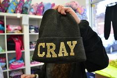 cray beanie. ♡ I want this sooosoo much!