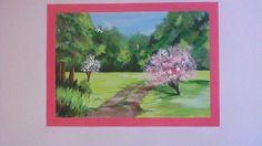 A beautiful, relaxing spring themed mural. Care Homes, Murals, Watercolors, Drawings, Spring, Painting, Beautiful, Design, Decor