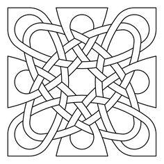 Celtic knot-work by Peter Mulkers vierkant Mayan Symbols, Viking Symbols, Viking Runes, Egyptian Symbols, Ancient Symbols, Mandala Coloring Pages, Colouring Pages, Coloring Books, Friendship Symbol Tattoos