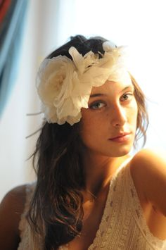 Silk bridal floral headband by Cherubina