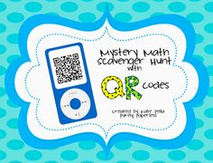 Mystery math scavenger hunt freebie- review two digit addition and subtraction with and without regrouping using QR codes- 2.NBT.5.