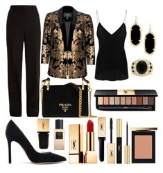 """""""Untitled #8"""" by ellipop ❤ liked on Polyvore featuring Nissa Jewelry, IRO, Gianvito Rossi, Givenchy, Prada, Kendra Scott, Effy Jewelry and Yves Saint Laurent"""