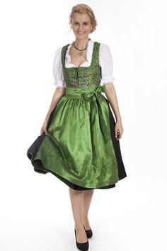 Midi Dirndl Theresa von Gamsbock in grün