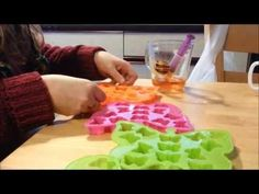 Candle Making - How To Make Wax Scent Samples (This can be done with any scented wax. I pinned for the tutorial. They use a syringe to put the melted wax into the molds. - Deb)