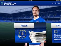 Everton Fc Live Stream Soccer News app on ipad