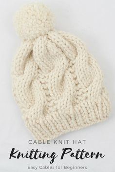 64 Best Cable knit hat images  ad94a39b1f9