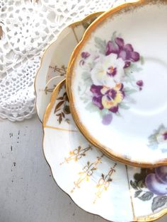 Vintage Shabby Cottage Chic Mismatched China. by ShabbyPeonie, $18.50