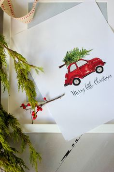 Craftberry Bush: Red Christmas buggy printable - free for a limited time!