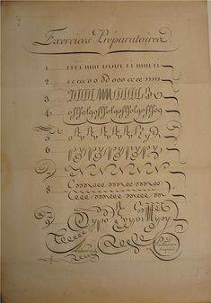 BIBLIOTYPES: Paillasson, Charles: Caligrafía francesa del s. XVIII Calligraphy Fonts Alphabet, Caligraphy, Typography, Cursive Handwriting, Penmanship, Hand Lettering Tutorial, Tattoo Fonts, Script, Book Art