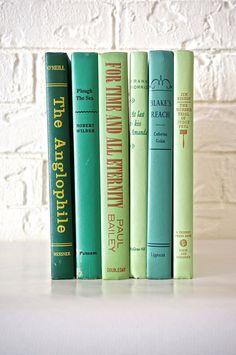 Green Mint Emerald Teal Decorative Six Book Set by holySMACKroll, $32.00
