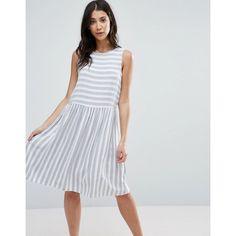 565384cbfef Vero Moda Striped Skater Dress ( 28) ❤ liked on Polyvore featuring dresses