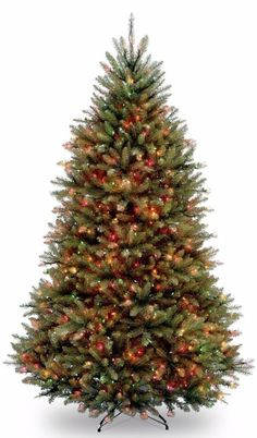 Faux Fir Artificial Green Christmas Tree with 700 Multicolored Lights Home Decor #ChristmasTree #Artificial #Lights #FauxFir #MultiColor #PreLit #LEDLights #Christmas #ChristmasDecor #Holiday #Seasonal #HomeDecor #HolidayDecor