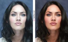 Megan Fox- beautiful with or without retouch!