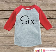 Six Year Old Birthday Shirt