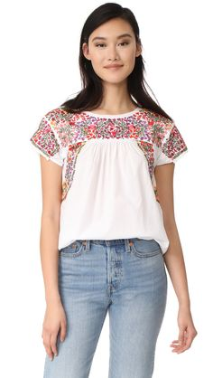 Fleur Embroidered Top