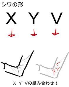 シワにだってコツがある!服のシワの描き方講座|イラストの描き方 「X・Y・V」で描く、シワの形 Tips on How to Draw Cloth Wrinkles | Illustration Tutorial X, Y and V shaped wrinkles