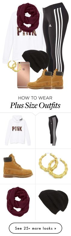 """My ootd"" by thetruthdoesnothavetohurt on Polyvore featuring Victoria's Secret PINK, adidas, Timberland, Phase 3, Mura and Athleta"