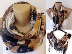 cotton women scarf scarves summer spring trends by scarfstrends, $12.90