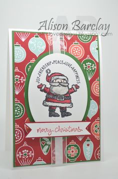 Gothdove Designs - Alison Barclay - Stampin' Up! Australia - Get Your Santa On - Merry Monday Christmas Challenge #NordicNoel #GetYourSantaOn #christmas #card