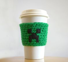 Minecraft Green Creeper Cup Cozy