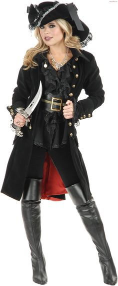 black punk Pirate Captain Costume women adult party cosplay halloween costumes for women pirate costume women y hat Alternative Measures - Alternative Measures - - 1 Pirate Cosplay, Adult Pirate Costume, Costume Halloween, Halloween Costumes For Teens, Adult Costumes, Pirate Costumes, Jedi Cosplay, Pirate Dress, Knight Halloween